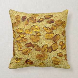 Amber stones | throw pillow