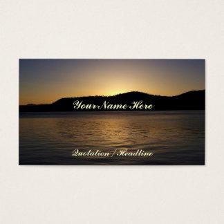 Amber Sunset Business Card