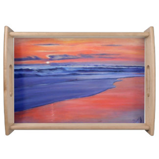 Amber Sunset Serving Tray