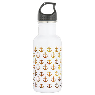 Amber texture anchors pattern 532 ml water bottle