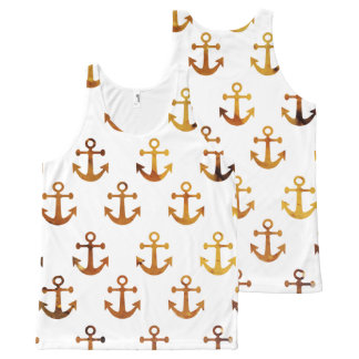 Amber texture anchors pattern All-Over-Print tank top