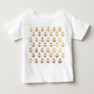 Amber texture anchors pattern baby T-Shirt