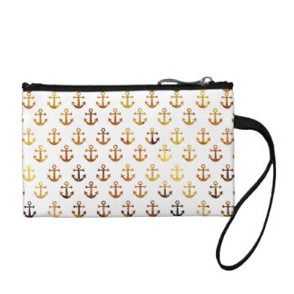 Amber texture anchors pattern coin purse