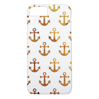 Amber texture anchors pattern iPhone 7 case