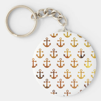 Amber texture anchors pattern keychain