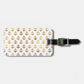 Amber texture anchors pattern luggage tag