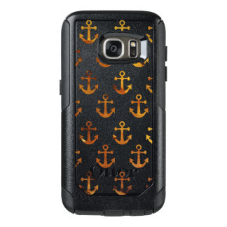 Amber texture anchors pattern OtterBox samsung galaxy s7 case