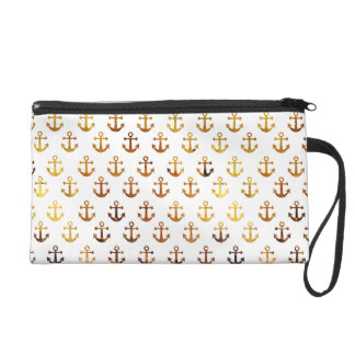 Amber texture anchors pattern wristlet