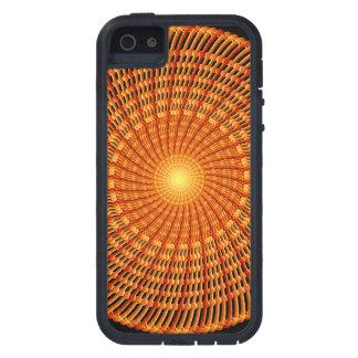 Amber Vortex Mandala Case For The iPhone 5