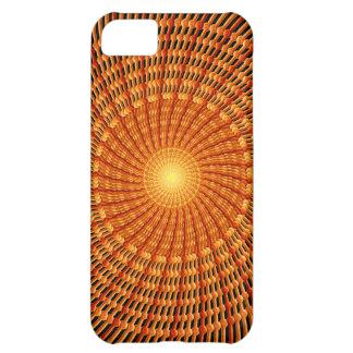 Amber Vortex Mandala iPhone 5C Cases