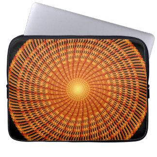 Amber Vortex Mandala Laptop Computer Sleeve