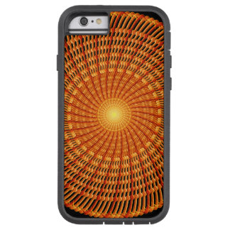Amber Vortex Mandala Tough Xtreme iPhone 6 Case