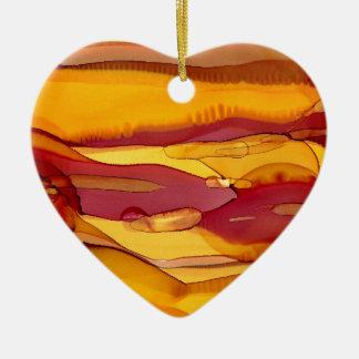 amber waves of grain ceramic ornament