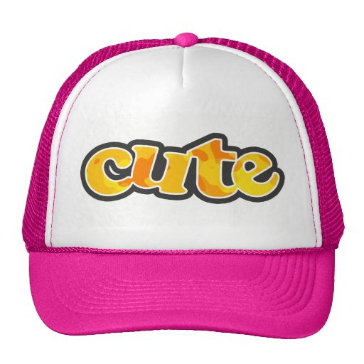 Amber Yellow Camo; Camouflage Trucker Hats