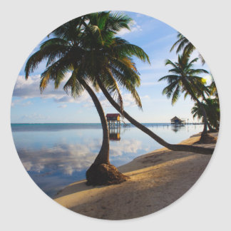 Ambergris Caye Belize Classic Round Sticker