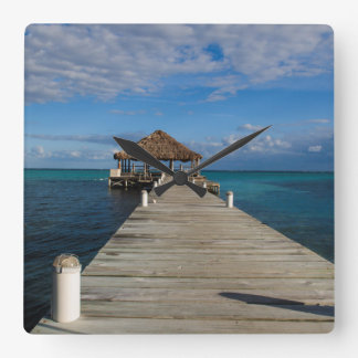 Ambergris Caye Belize Square Wall Clock