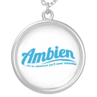 Ambien: For an adventure you'll never remember Silver Plated Necklace