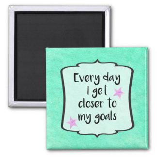 Ambition Achieving Goals Motivational Quote Magnet