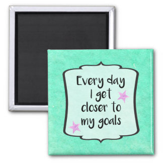 Ambition Achieving Goals Motivational Quote Square Magnet