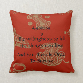 Ambition! Throw Pillow