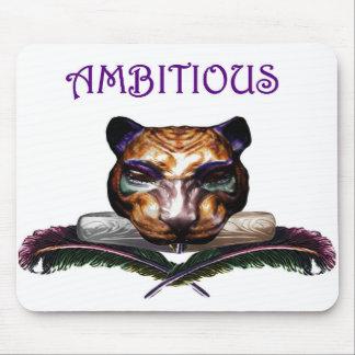 Ambitious- feline wild cat mousepad