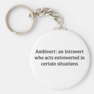 Ambivert Definition Basic Round Button Keychain