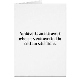 Ambivert Definition Card