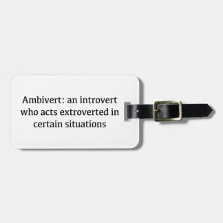 Ambivert Definition Luggage Tag