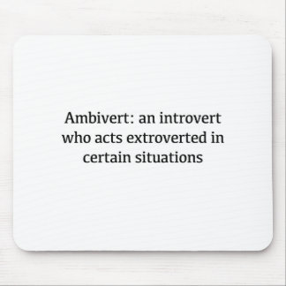 Ambivert Definition Mouse Pad