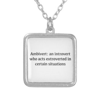 Ambivert Definition Silver Plated Necklace