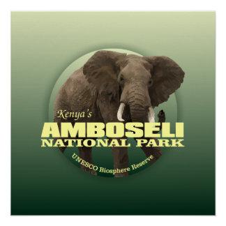 Amboseli NP (African Elephant) WT Poster