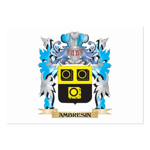 Ambresin Coat Of Arms Business Card Templates