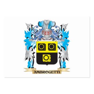 Ambrogetti Coat Of Arms Business Card Template