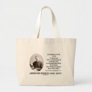 Ambrose Bierce Conservative The Devil's Dictionary Jumbo Tote Bag