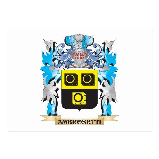 Ambrosetti Coat Of Arms Business Card Templates