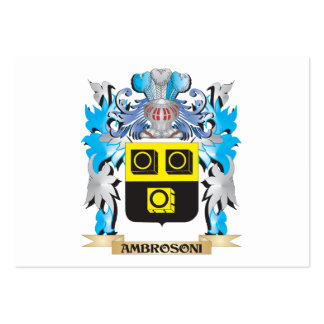 Ambrosoni Coat Of Arms Business Cards