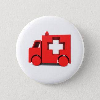 ambulance 2 inch round button
