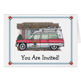 Ambulance Birthday Party Invitation