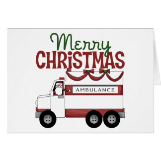Ambulance Christmas Card