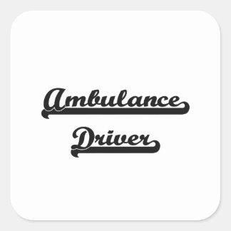 Ambulance Driver Artistic Job Design Square Sticker