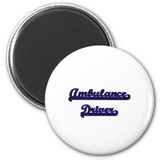 Ambulance Driver Classic Job Design 2 Inch Round Magnet