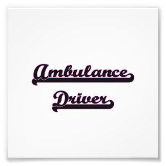 Ambulance Driver Classic Job Design Photo