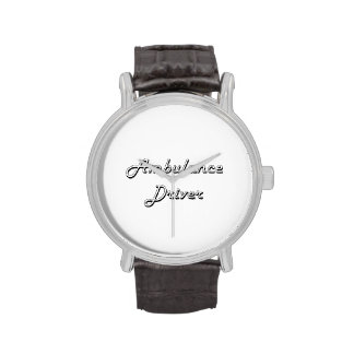 Ambulance Driver Classic Job Design Wristwatch