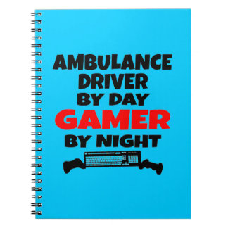 Ambulance Driver Gamer Spiral Notebook