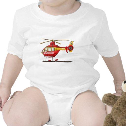 Ambulance médicale d'hélicoptère de délivrance de  t-shirts