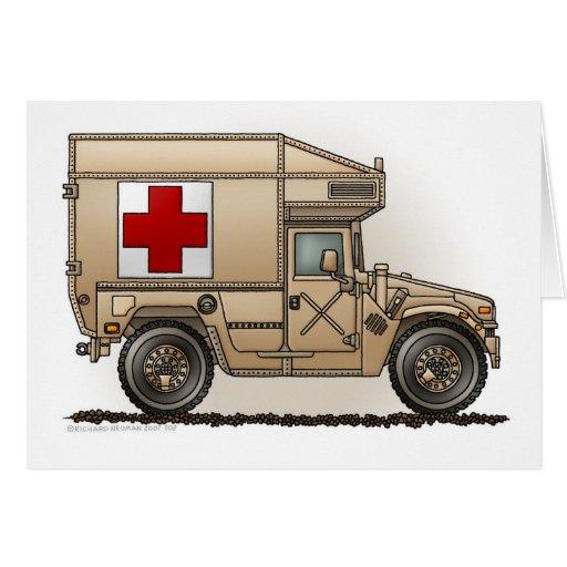 Ambulance Military Hummer Medic Card