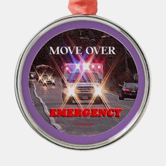 Ambulance_Move_Over.gif Metal Ornament