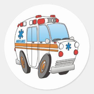 Ambulance Round Sticker