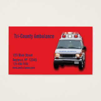 Ambulance Service Business Card