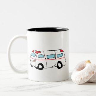 Ambulance Two-Tone Coffee Mug